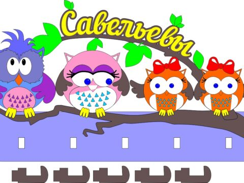 Housekeeper-owl-Drawings-and-layouts-for-a-laser-machine-in-CorelDRAW-format