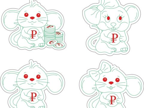 Mouse-mice-Drawings-and-layouts-for-a-laser-machine-in-CorelDRAW-format-2